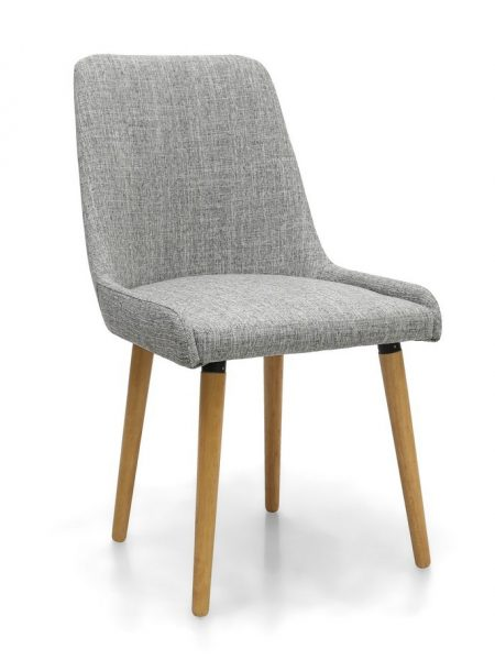 capri grey weave fabric dining chair