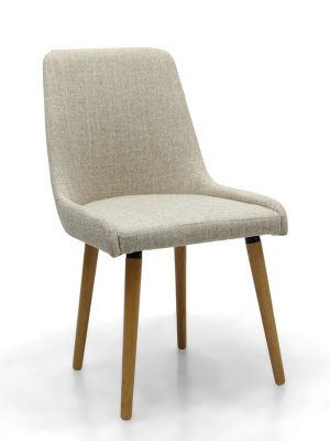 Capri Natural Cream Fabric Modern Dining Chair