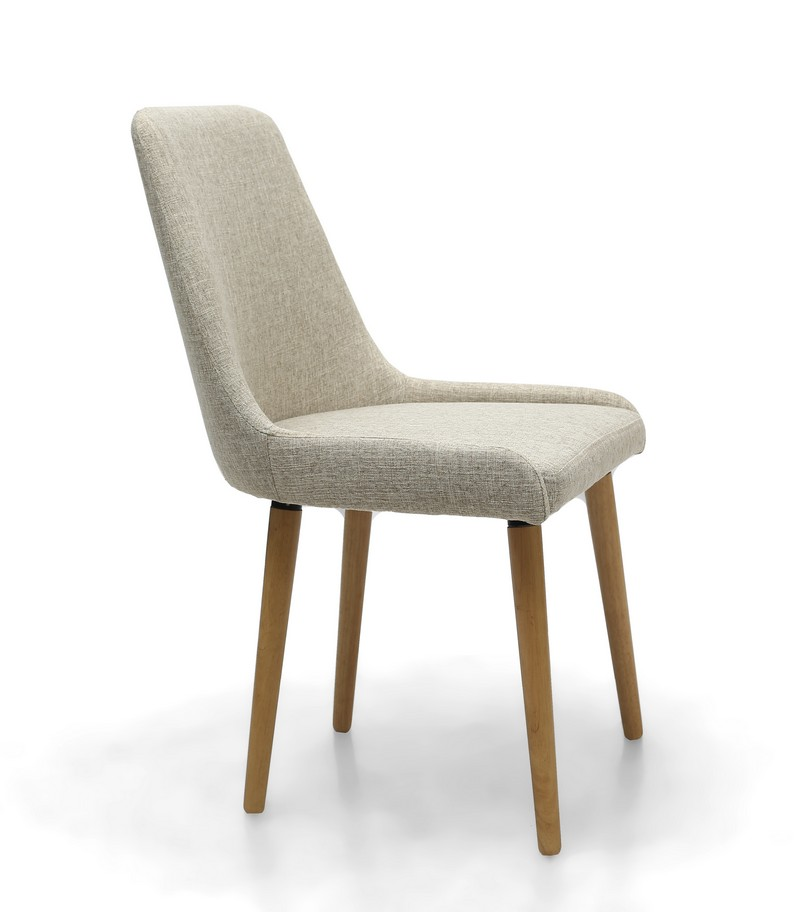 Capri Natural Cream Fabric Modern Dining Chair Capital Dining Chairs