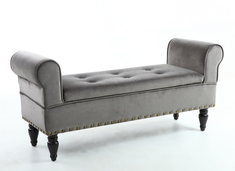 Downtown grey brushed velvet ottoman  sc 1 st  Capital Dining Chairs : chaise ottoman - Sectionals, Sofas & Couches