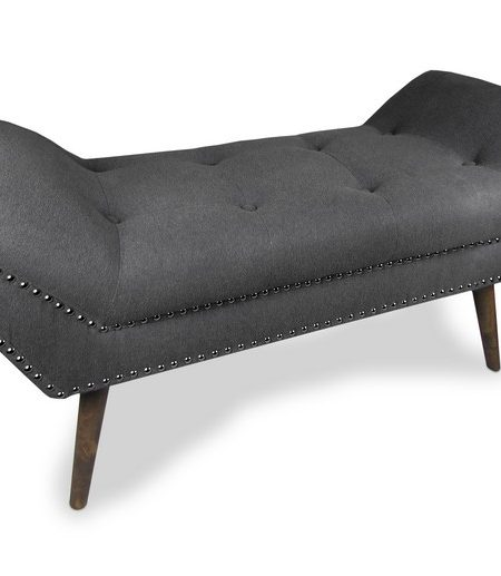 mulberry charcoal chaise