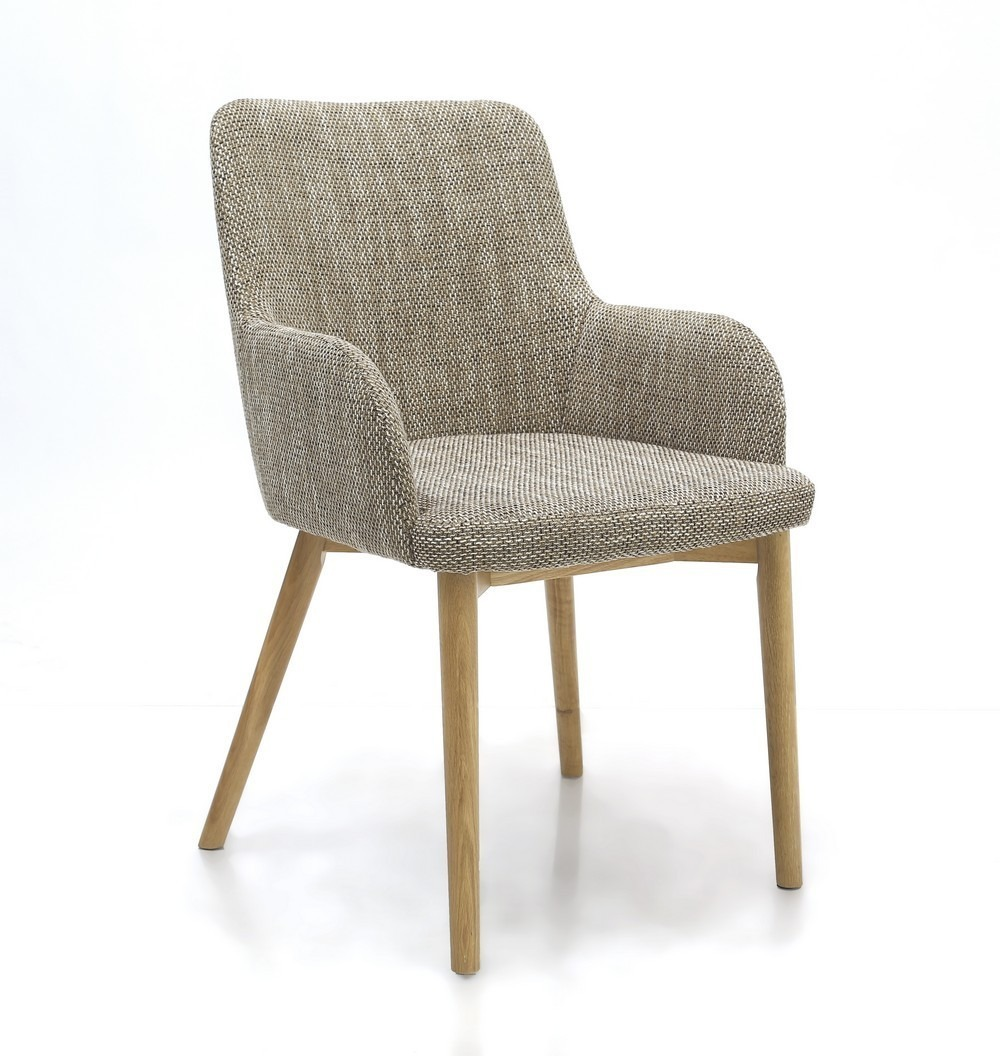 Sidcup tweed fabric modern dining chairs shankar for Contemporary fabric dining chairs