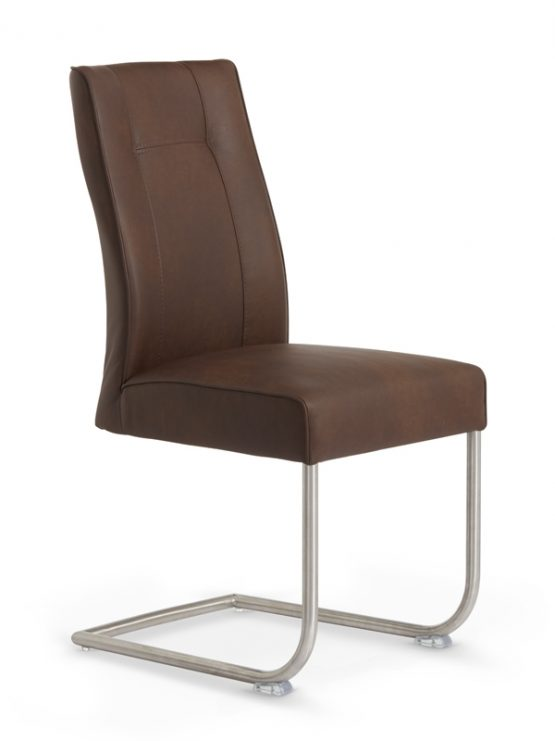 Valencia Chocolate Leather Dining Chair