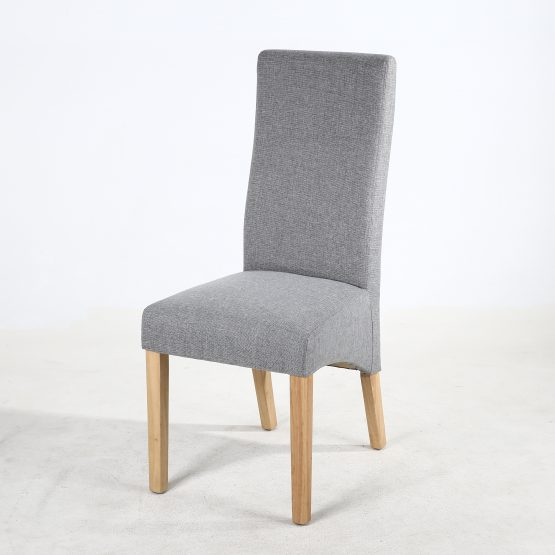 Superbe Buxton Silver Grey Fabric Dining Chair