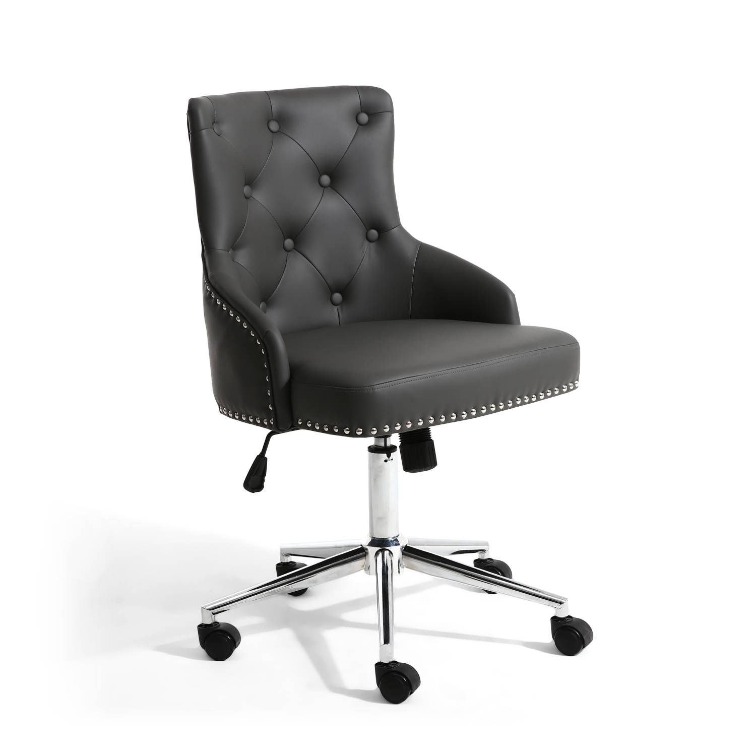 Brent Grey Faux Leather Office chair